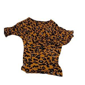 SNAP Asymmetrical Cheetah Bodycon Dress! NWOT!